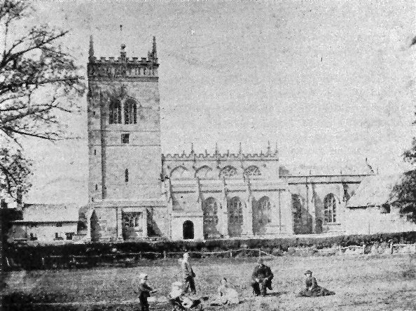 Acton Church in the 19th century