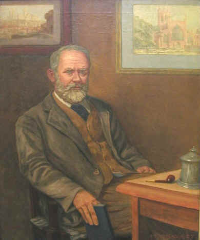 James Hall, in a portrait by his son, Walter J. Hall in 1943