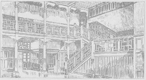 Drawing of the Hall at Alvaston Hall