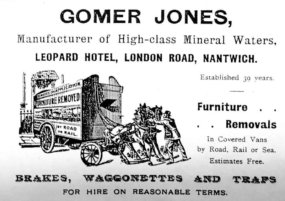 Gomer Jones advert (from Nantwich museum)