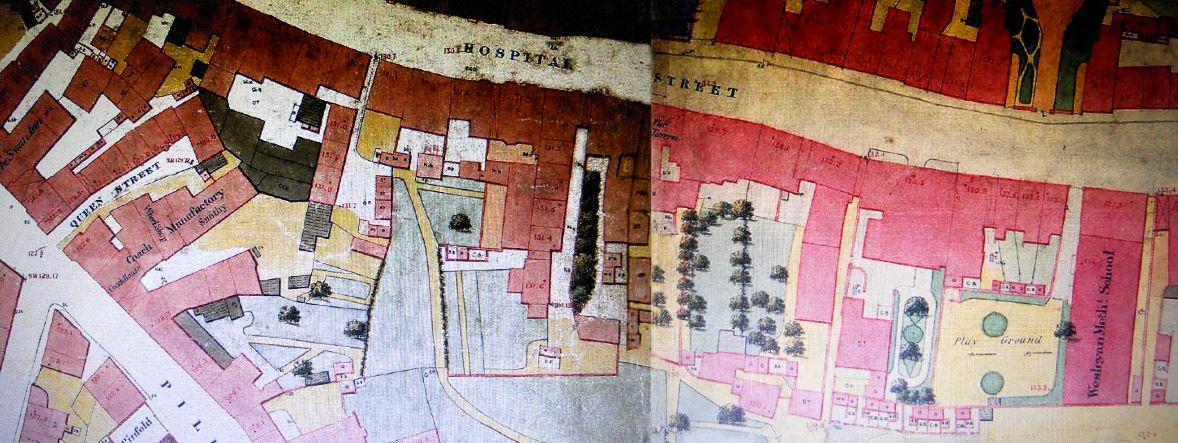 1851 map of Hospital Street