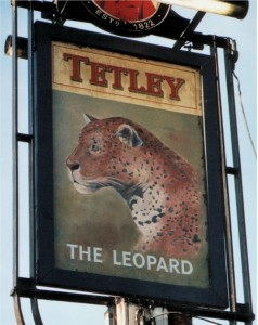Old sign for The Leopard