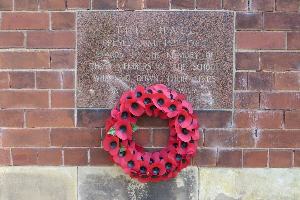 War memorial at Willaston School, Nantwich