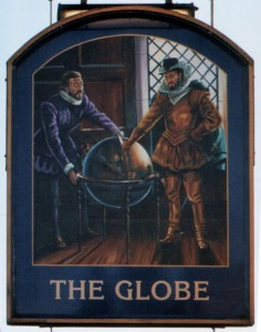 The Globe Inn, Nantwich, pub sign