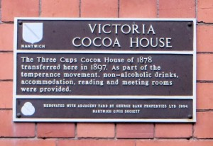 Plaque on Victoria Cocoa House