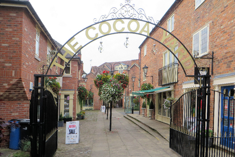 Entrance to the Cocoa Yard, Nantwich