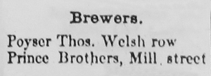 Nantwich Brewers in 1874