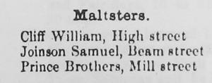 Nantwich Maltsters 1874