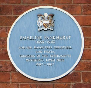 Blue plaque at The Pankhurst Centre