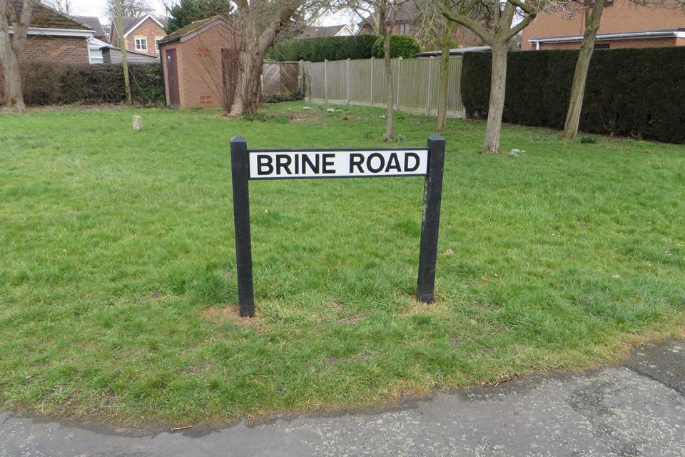 Brine Road sign